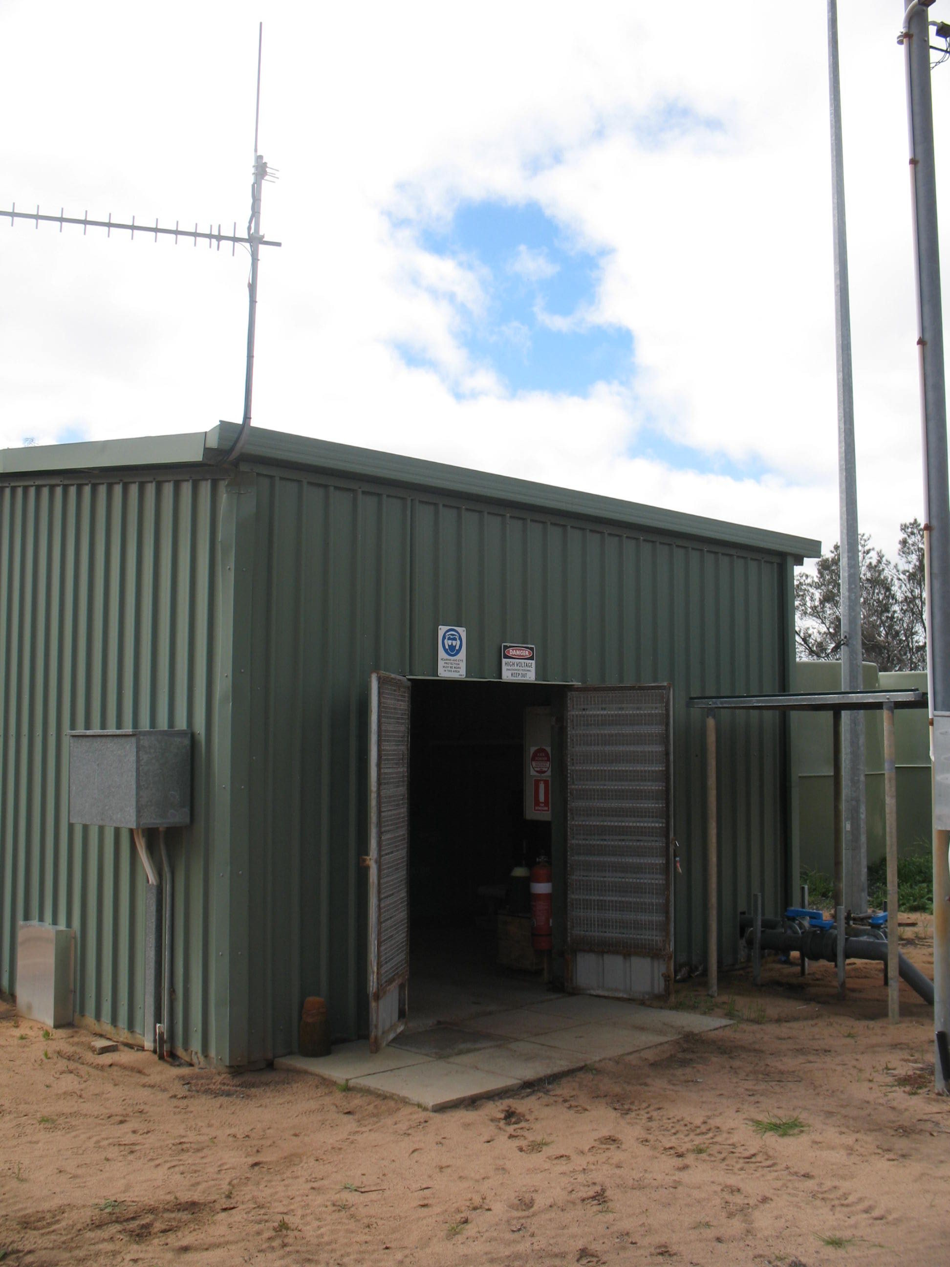 pump shed with Yargy installed for SiteNet via GSM monitoring